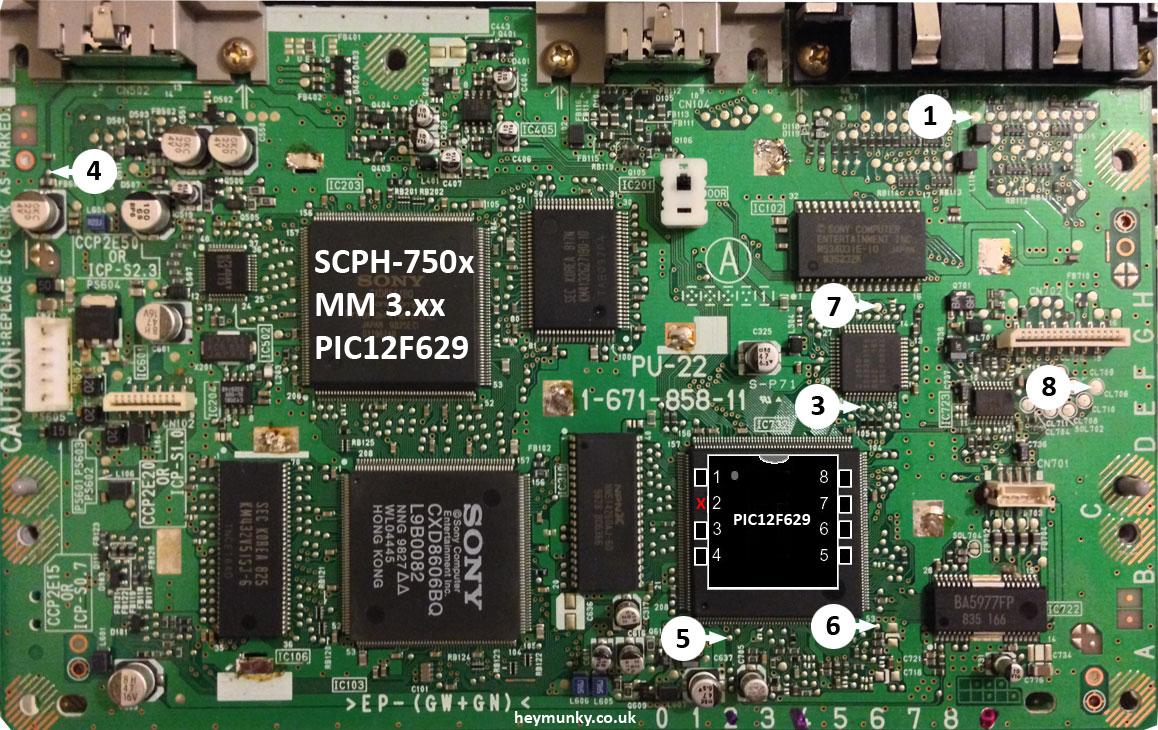SCPH-750x PU-22 MM3 PIC12F629