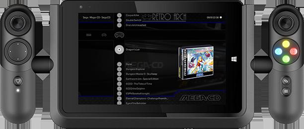 Linx Vision 8 running Mega-CD via Retroarch